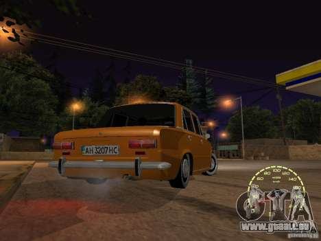 VAZ 2101 restauré pour GTA San Andreas vue intérieure