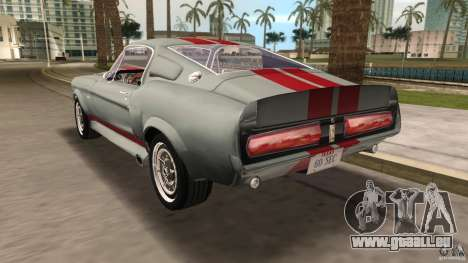 Ford Shelby GT500 für GTA Vice City Seitenansicht