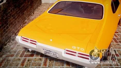 Pontiac GTO Judge für GTA 4 obere Ansicht