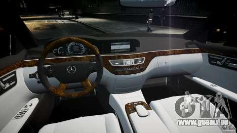 Mercedes Benz w221 s500 v1.0 sl 65 amg wheels für GTA 4 rechte Ansicht