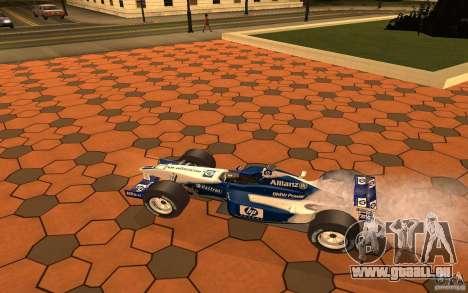 BMW F1 Williams pour GTA San Andreas sur la vue arrière gauche