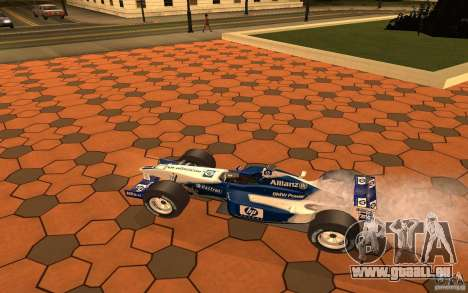 BMW F1 Williams für GTA San Andreas zurück linke Ansicht