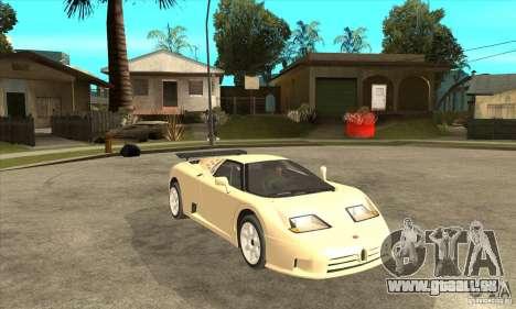 Bugatti EB110 SS 1992 pour GTA San Andreas vue de droite