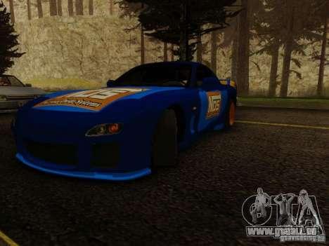 Mazda RX7 Nos pour GTA San Andreas sur la vue arrière gauche