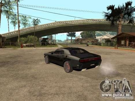 Dodge Challenger pour GTA San Andreas vue arrière