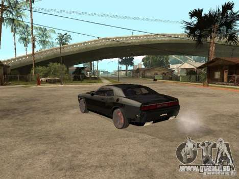 Dodge Challenger für GTA San Andreas Rückansicht