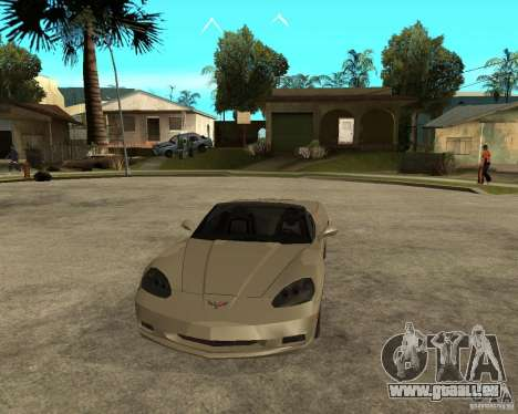 2005 Chevy Corvette C6 für GTA San Andreas Rückansicht