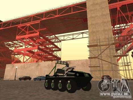 Véhicule tout-terrain Argo Avenger pour GTA San Andreas laissé vue