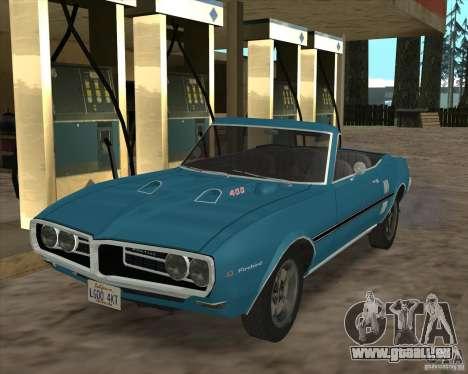 Pontiac Firebird Conversible 1966 für GTA San Andreas Rückansicht