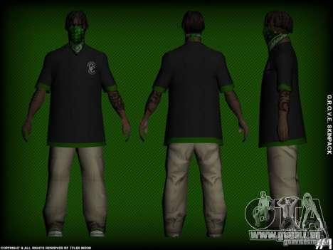 G.R.O.V.E. Skinpack pour GTA San Andreas deuxième écran