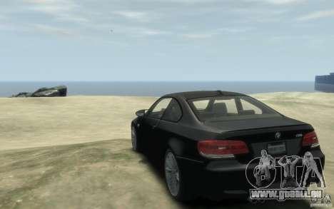 BMW M3 E92 2008 für GTA 4 hinten links Ansicht