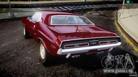 Dodge Challenger 1971 pour GTA 4 Vue arrière de la gauche