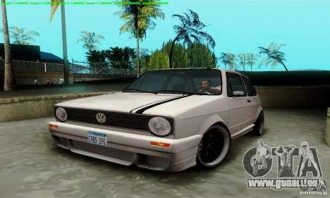 VolksWagen Golf LS pour GTA San Andreas vue intérieure