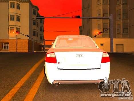 Audi S4 OEM pour GTA San Andreas salon