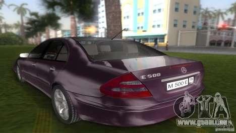Mercedes E-class E500 pour une vue GTA Vice City de la gauche
