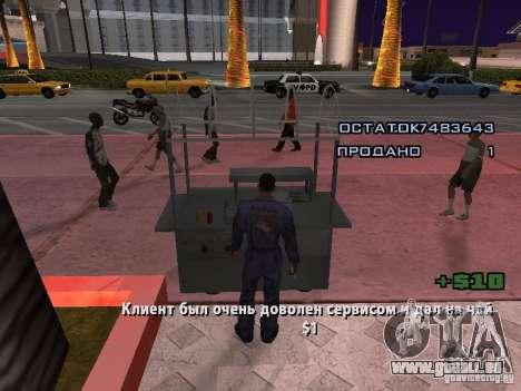 Vendeur de Hot-Dog pour GTA San Andreas quatrième écran