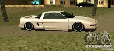 New Infernus pour GTA San Andreas sur la vue arrière gauche
