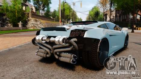 Lamborghini Gallardo Twin Turbo Kit für GTA 4 hinten links Ansicht
