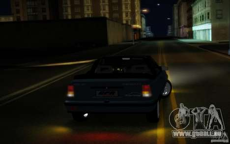 Chevrolet Kadett GSI Cabrio pour GTA San Andreas vue arrière