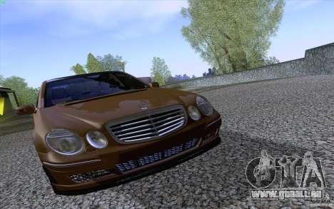 Mercedes-Benz E55 AMG für GTA San Andreas Innenansicht