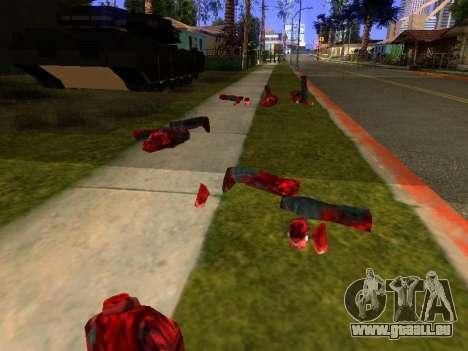 Massacre à la tronçonneuse v. 2.0 pour GTA San Andreas quatrième écran
