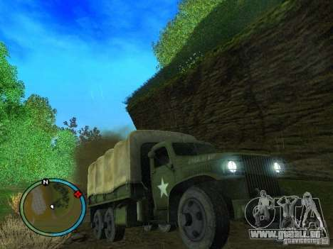 Millitary Truck from Mafia II pour GTA San Andreas vue arrière