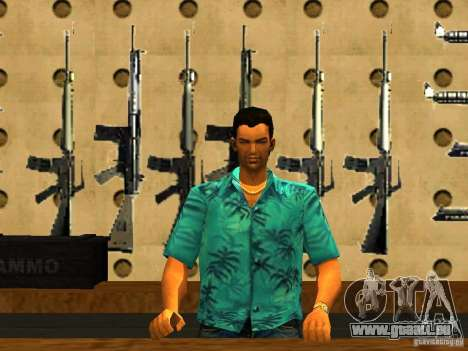 Tommy Vercetti dans AMMU-NATION pour GTA San Andreas deuxième écran