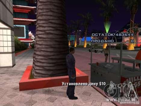 Vendeur de Hot-Dog pour GTA San Andreas deuxième écran