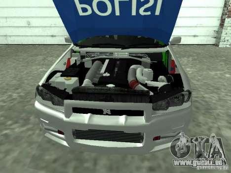 Nissan Skyline Indonesia Police pour GTA San Andreas vue de droite