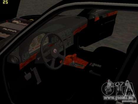 BMW E34 Alpina B10 Bi-Turbo pour GTA San Andreas vue de dessous