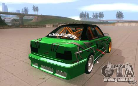 BMW E34 V8 Wide Body pour GTA San Andreas vue de côté