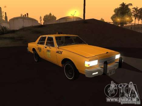 Chevrolet Caprice 1986 Taxi pour GTA San Andreas