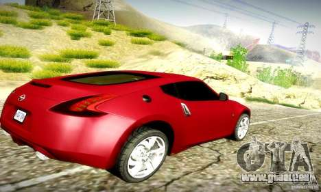 Nissan 370Z V2 für GTA San Andreas Rückansicht