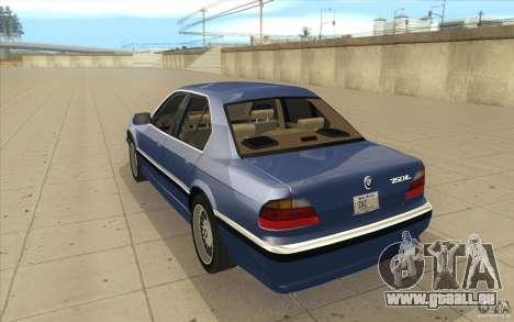 BMW 750iL 1995 pour GTA San Andreas sur la vue arrière gauche