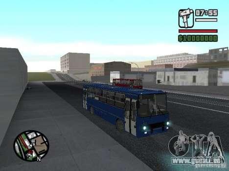 Ikarus 260.51 pour GTA San Andreas sur la vue arrière gauche
