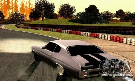Chevrolet Chevelle 1970 pour GTA San Andreas sur la vue arrière gauche