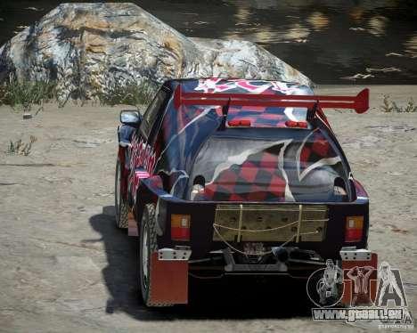Mitsubishi Pajero Proto Dakar vinyle 3 pour GTA 4 est un côté