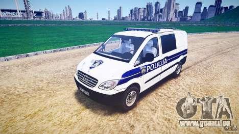 Mercedes Benz Viano Croatian police [ELS] pour GTA 4
