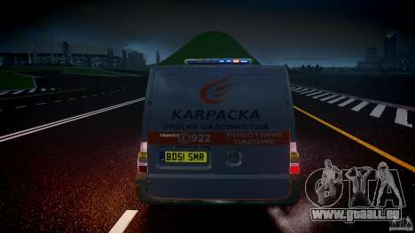 Ford Transit Usluga polski gazu [ELS] pour GTA 4 Salon
