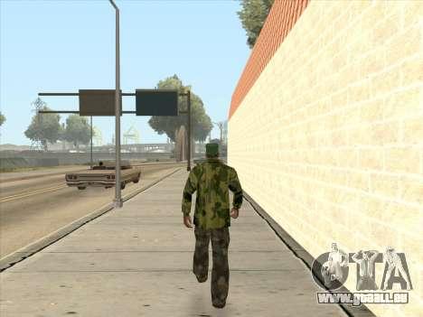 Veste camouflage pour GTA San Andreas cinquième écran