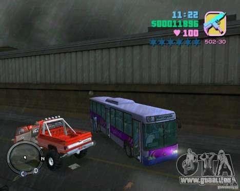 Marcopolo Bus pour une vue GTA Vice City de l'intérieur