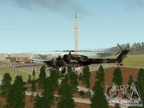 MI 28 HAVOC pour GTA San Andreas vue de droite
