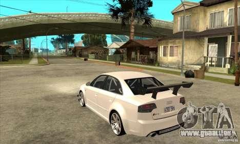 Audi RS4 2006 pour GTA San Andreas sur la vue arrière gauche
