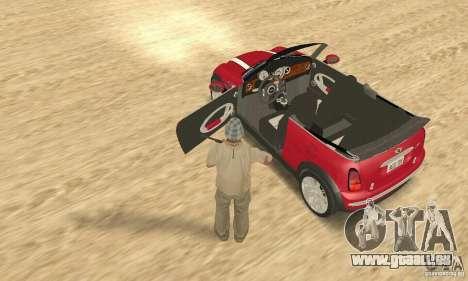 Mini Cooper Convertible pour GTA San Andreas vue arrière