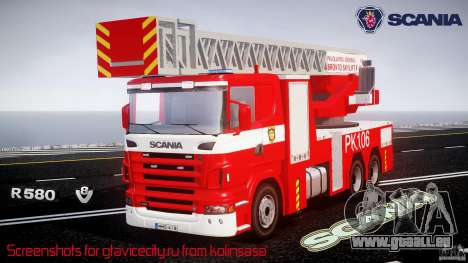 Scania R580 Fire ladder PK106 [ELS] für GTA 4