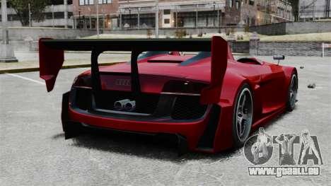 Audi R8 Spider Body Kit Final für GTA 4 hinten links Ansicht