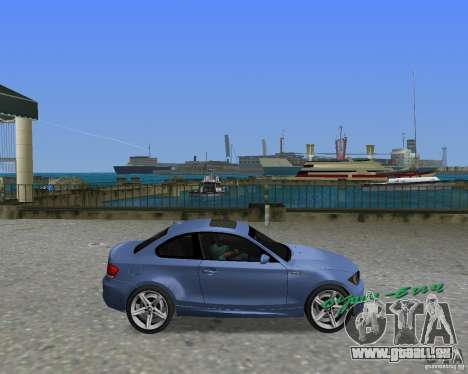 BMW 135i für GTA Vice City rechten Ansicht