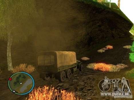 Millitary Truck from Mafia II pour GTA San Andreas vue de droite