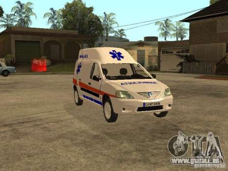 Dacia Logan Ambulanta pour GTA San Andreas