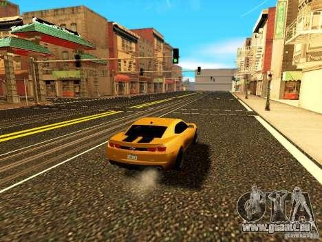 Chevrolet Camaro SS 2010 für GTA San Andreas Seitenansicht